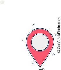location map tracking gps icon vector design
