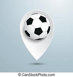 Location Marker Football