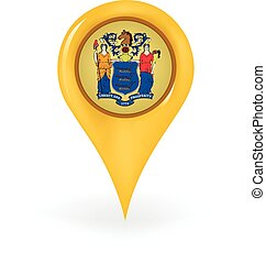 Location New Jersey - Map pin showing New Jersey.