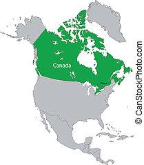 Location of Canada
