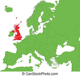 United Kingdom - Location of United Kingdom on the Europe...
