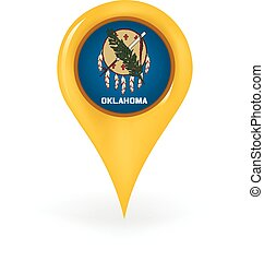 Location Oklahoma - Map pin showing Oklahoma.