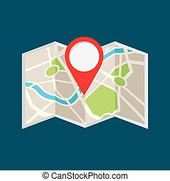 location pin and map icon