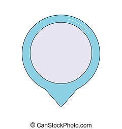 location pin icon, colorful design