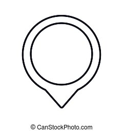 location pin icon, line style
