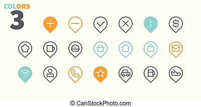 Location Pixel Perfect Well-crafted Vector Thin Line Icons 48x48 Ready for 24x24 Grid for Web Graphics and Apps with Editable Stroke. Simple Minimal Pictogram Part 3
