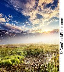 Location place High Alpine Road, Austria. Europe.