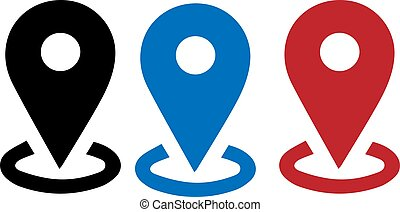 location point icon isolated on white background