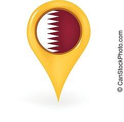 Location Qatar - Map pin showing Qatar.