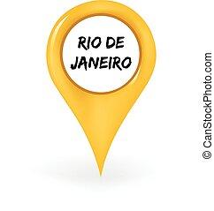Location Rio De Janeiro - Map pin showing Rio De Janeiro.