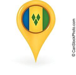Location Saint Vincent Grenadines - Map pin showing Saint...