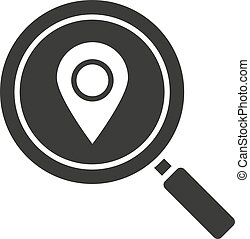 Location search glyph icon