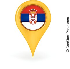 Location Serbia - Map pin showing Serbia.