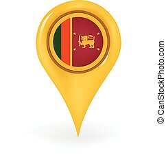 Location Sri Lanka - Map pin showing Sri Lanka.