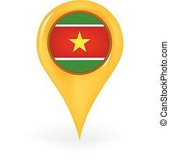 Location Suriname - Map pin showing Suriname.