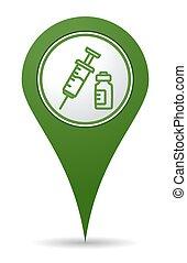 location vaccine icon