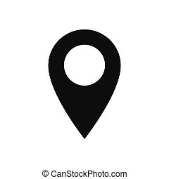 Location vector icon, map pin symbol in modern design style for web site and mobile app