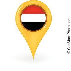 Location Yemen - Map pin showing Yemen.