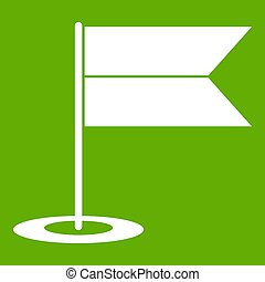 Locator flag icon green