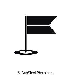 Locator flag icon, simple style