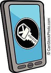 locator, smartphone, cerrajero
