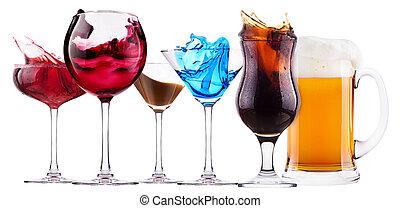 loccsanás, állhatatos, koktél, alkoholista