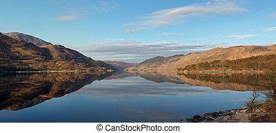 Loch Ailort sea loch , Scotland west coast
