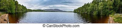 Loch Garten in the Cairngorms National Park, Scotland - High...