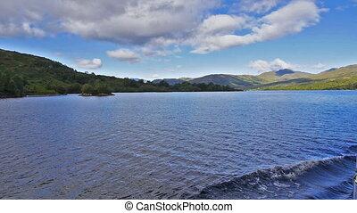 Loch Katrine, Scottish Highlands - Serene landscape near...