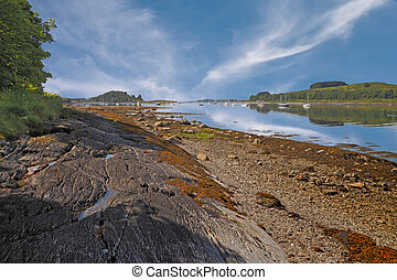 Loch Linnhe, a nine and a half mile sea loch in Argyll and...
