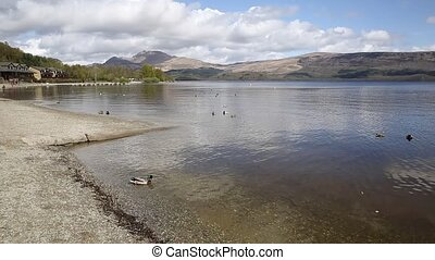 Loch Lomond Scotland UK The Trossachs National Park on a...
