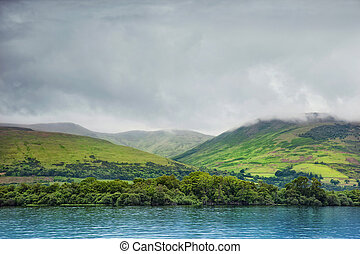 Loch Lomond, Scotland - view from Loch Lomond on the hills,...