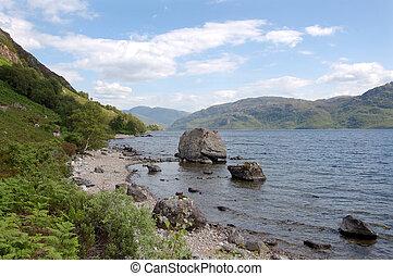 Loch Morar looking east with big rock