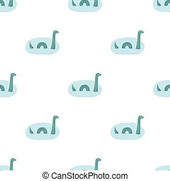 Loch Ness monster icon in cartoon style isolated on white background. Scotland country symbol stock vector illustration.