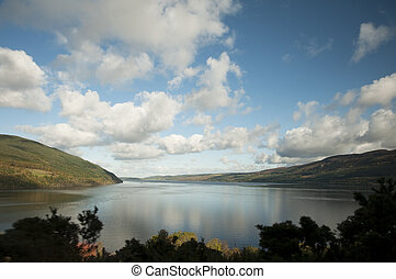 loch ness - Loch Ness, Scotland in the fall