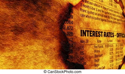 loch, papier, raten, interesse
