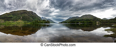 Loch Shiel panorama - Highland panorama mirrored in the calm...