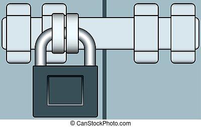 Lock and bar