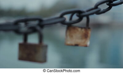 Lock and chain
