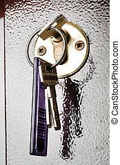 Lock and key - Closeup to lock and key