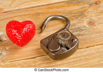Lock and key to a heart