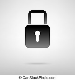 Lock black icon