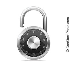 Lock black, Security Concept. Vector padlock