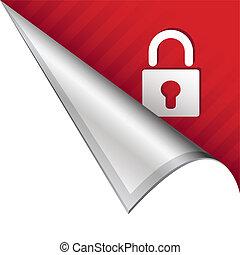 Lock corner tab