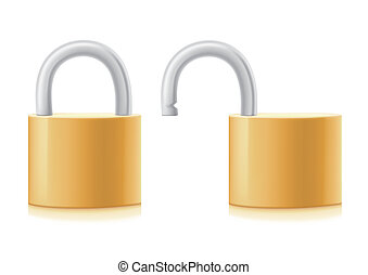 lock - vector lock on white background