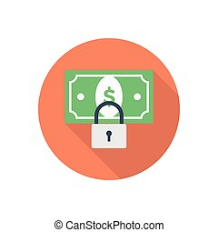 lock  flat color icon