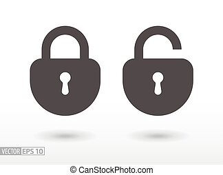 Lock - flat icon - Lock flat icon. Sign Lock. Vector logo...