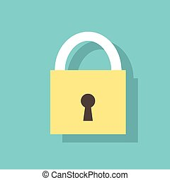 lock flat icons design vector padlock color object