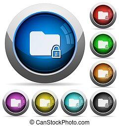 Lock folder button set