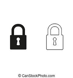 lock - green vector icon